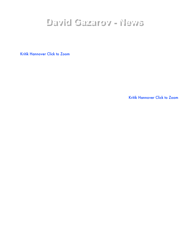 David Gazarov - News